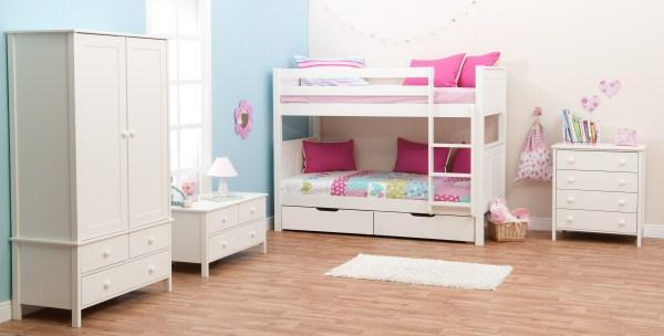 Classic Kids Bunk Bed White