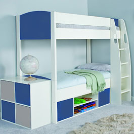 White Wooden Bunkbeds With Storage From Stompa