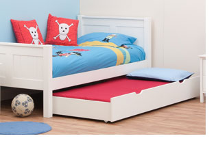 For that reason it is built slightly smaller than the main bed it is sold  with. It can be stored with a special size mattress to suit the trundle so  the ...